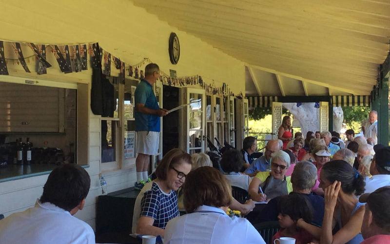 Social event at Claremont tennis club